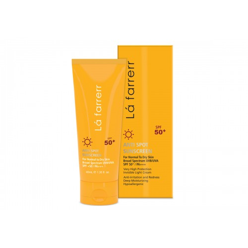 ANTI SPOT SUNCCREEN for Normal to Dry skin SPF50